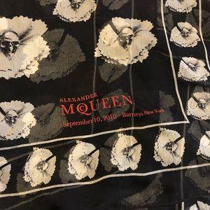 McQueen Skull scarf FNO 2010 limited Barney's rare